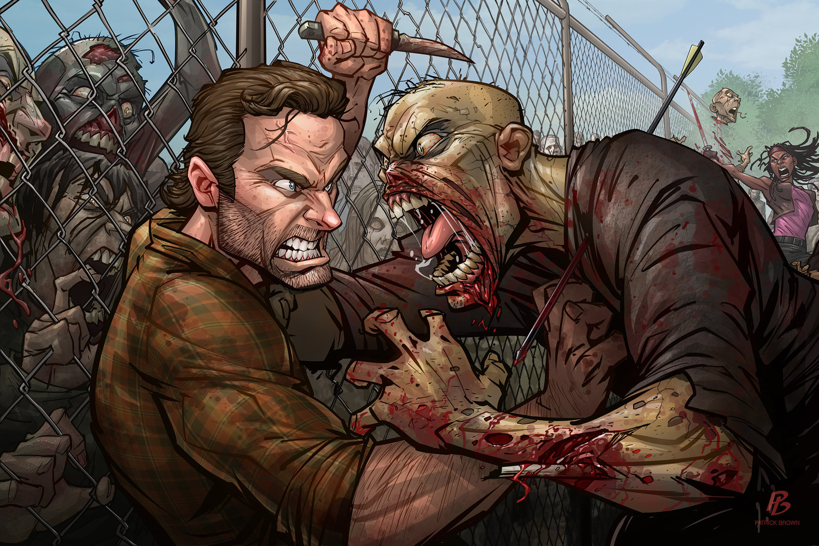 the_walking_dead_by_patrickbrown-d9t0q1f