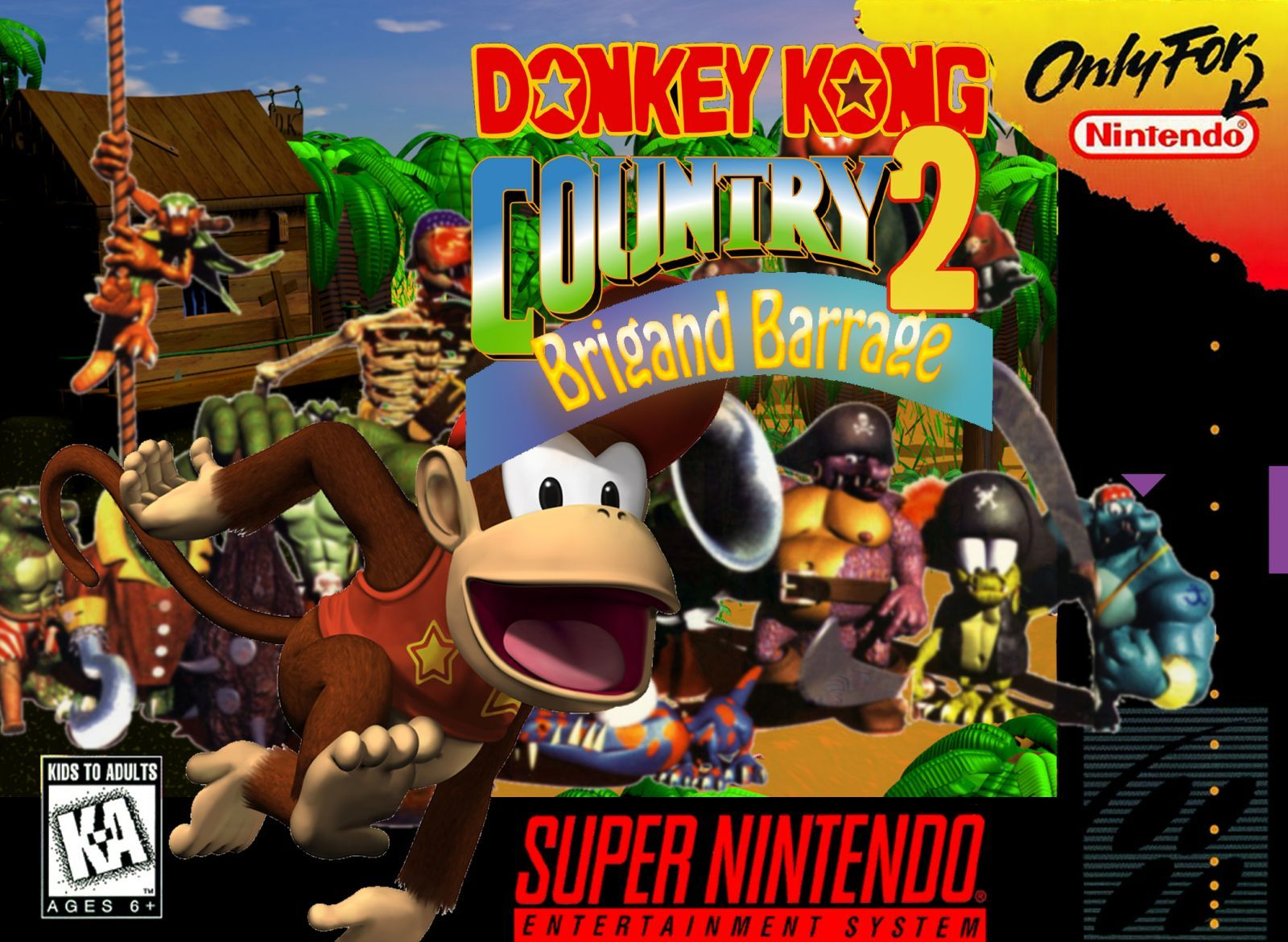 Donkey Kong Country 2   Brigand Barrage copie 1