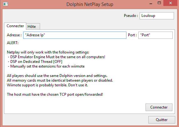 Tutoriel] Netplay sur Dolphin - Tutoriels - RomStation