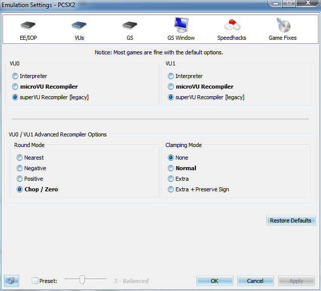 Tuto] Config PCSX2 0 9 8 >> 1 1 0 + ValdanX - Tutoriels