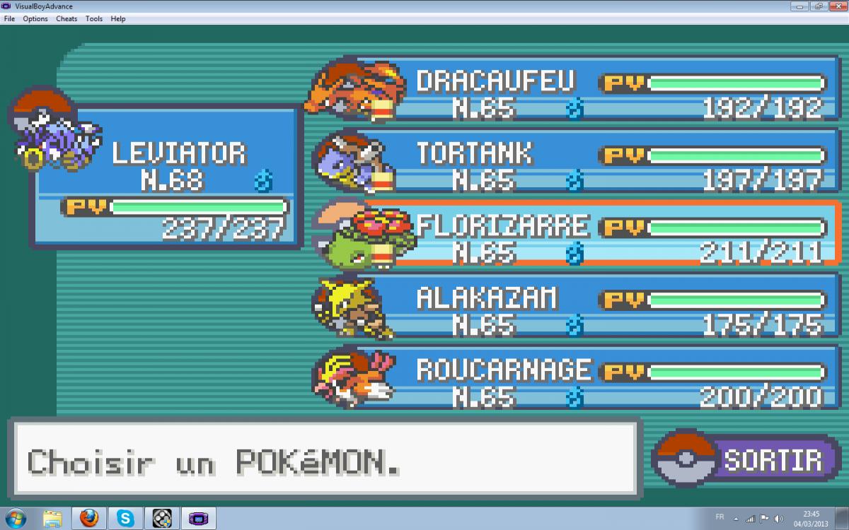 Cheats Pokemon Rouge Feu Gba Emulateur