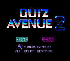Quiz Avenue 2 - pce-cd