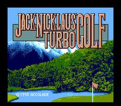 Jack Nicklaus Turbo Golf (PC Engine CD)
