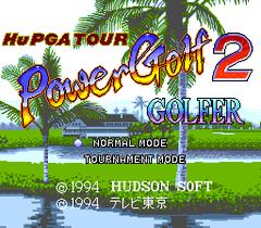 Hu PGA Tour Power Golf 2 - Golfer (PC Engine CD)