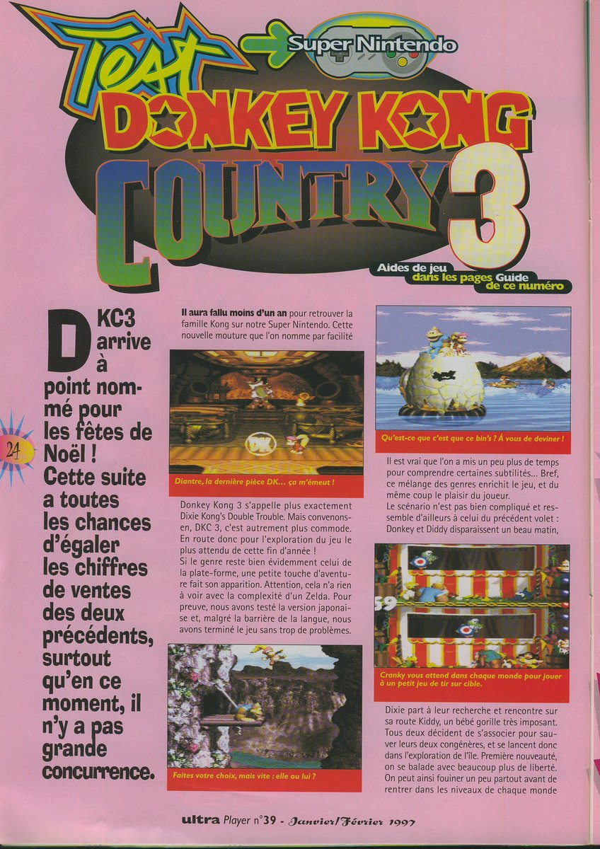 Donkey Kong Country 3 : Dixie Kong's Double Trouble! - 01